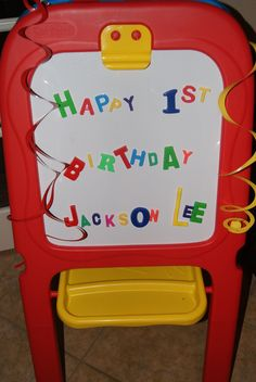 Using the kids' letters and board...just a welcome message to guests as they enter the house!