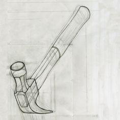 hammer line drawing by nickross.nr, via Flickr