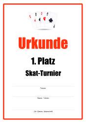 Urkunde Skat-Turnier | Urkunden-Sport