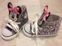 3b8fc40f390e Minnie Mouse custom crystal and pearl infant toddler by TinyDivaz