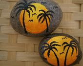 Tropical Paradise Painted Rocks