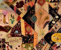 Victorian Crazy Quilt: Ca. 1890; Pennsylvania