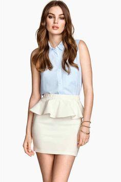 褶饰半身裙 | H&M