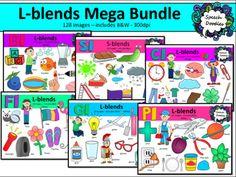 L Blends Clipart 130 Images Mega Bundle Of Bl Cl Fl Gl Pl And Sl