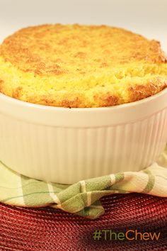 Bring the flavors of the south to your holiday table with this Cheddar Grits Souffle!