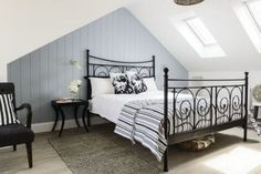 This attic bedroom conversion has been designed with guests in mind