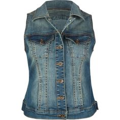 This denim vest has a great shape--not boxy and very flattering! Cute for Fall!