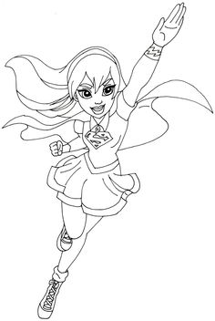 find this pin and more on dc superhero girls party free printable super hero high coloring page - Free Girl Coloring Pages