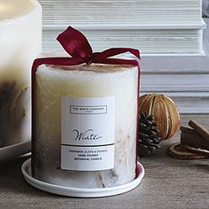 Winter Pillar Botanical Candle