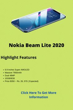 If you are waiting a best smartphone then a good news for you. Nokia is going to bring Nokia new smartphone named Nokia Beam Lite 2020. It has awesome features. Here in this post we have tried to discuss every single specification that will help you to get idea about this phone. Best Smartphone, Good News, Beams, Waiting, Bring It On, How To Get, Personal Care, Awesome, Self Care
