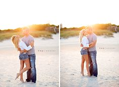 Ashlei and Joe Um. This engagement session was one of my absolute favorites ever (which is why I don't have a lot of words… I mean, I'm literally so. Beach Engagement Photos, Engagement Photo Outfits, Engagement Couple, Engagement Shoots, Casual Engagement Outfit, Beach Photography, Couple Photography, Engagement Photography, Anniversary Photography
