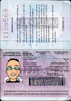 Dominicana passport - ALEXPSD Passport Template, Psd Templates, Photoshop, Names, Words, Passport, Relationships, Horse