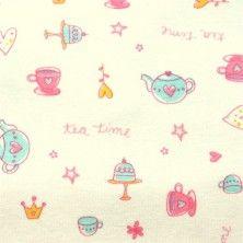 Tea Time Cotton Knit Fabric