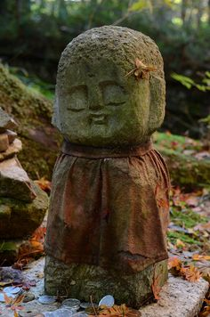 Jizo statue at Ohara Sanzen-in, Kyoto, Japan   ----------- #japan #japanese