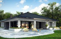 House Outside Design, House Front Design, Modern House Design, House Plans Mansion, Dream House Plans, Small House Plans, Home Building Design, Home Design Plans, Building A House