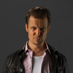 The creator of Max Payne dressed as Max Payne.