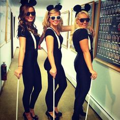 Three Blind Mice costumes.  CUTE.