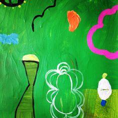 YASMINE ESFANDIARY 2015 acrylic on canvas