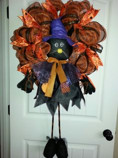 Halloween fun mesh wreath by kyong