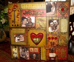 Story Telling Collage (your love story on canvas)