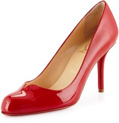 CHRISTIAN LOUBOUTIN SHOES,  SOPHIAREGINA PATENT RED SOLE PUMP, RED  --  ShopStyle Collective