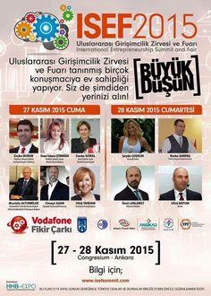 Ankara'da görüşmek üzere; Girişimcilik Zirvesi Entrepreneurship Summit and Fair - ISEF2015