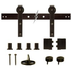 Sliding door hardeware: HOME DEPOT THIS KIT SELLS FOR $150 AND COMES IN OIL RUBBED BRONZE FINISH