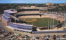 Milwaukee County Stadium, as it looked for most of the 1950s.  Many, many fond memories with daddy and grandpa going to games. (Sandi)