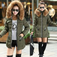 Fashion-Winter-Warm-Womens-Down-Cotton-Parka-Long-Fur-Collar-Hooded-Coat-Jacket