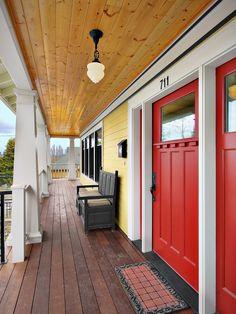 Love the red doors.