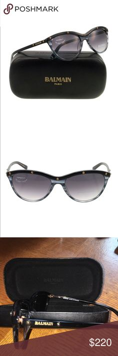 Balmain  Paris Sunglasses Balmain 2007 Sunglasses, frame black/grey horn, lenses are gradient grey, these are new without stickers, original case included Balmain Accessories Sunglasses