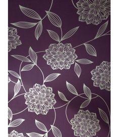 Fresco Wallpaper 59020 Vision Plum Floral Wallpaper