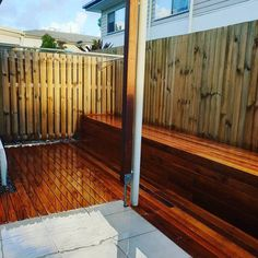 Today we finished this Merbau deck with built in bench seat. Making the most of Danielle and Dan's courtyard. Call now for your free measure and quote. Built In Bench, Bench Seat, Gold Coast, Your Design, Living Spaces, Past, Decking, Landscape, Happy Friday