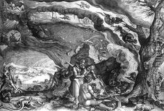 oil paintings of witches   Witches Sabbath c. 1610 Andries Jacobsz. Stock   Oil Painting ...
