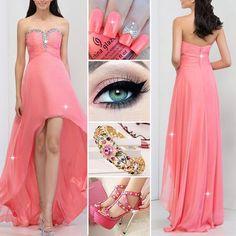 Pretty Sweethheart Beading A-Line Asymmetrical Prom Dress