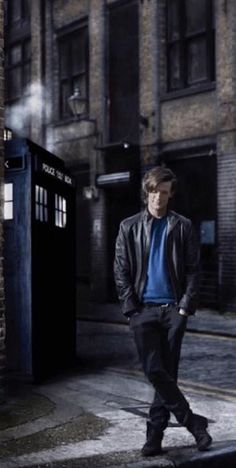 A Doctor a day/Matt Smith in one of several poses for his first Doctor Who magazine cover