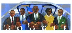 Martin Luther King, Jr. Day 2015 [День Мартина Лютера Кинга]. Artist Ekua Holmes /This doodle was shown: 19.01.2015 /Countries, in which doodle was shown: United States