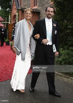 Princess Tatiana of Greece and Prince Nikolaos of Greece attend the wedding of Princess Nathalie zu Sayn-Wittgenstein-Berleburg and Alexander Johannsmann at the evangelic Stadtkirche on June 18, 2011 in Bad Berleburg, Germany.