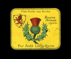 Boer War Tobacco Tin + Contents - exclusively issued to scottish troops