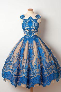 bluesouffle dress.