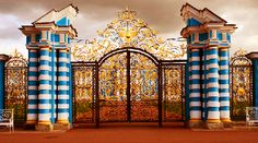 The Catherine Palace is a Rococo palace located in the town of Tsarskoe Selo, 25 km south-east of St. Petersburg, Russia. It was the summer ...