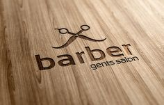 Barber Gents Salon Logo Template by Ramzi Hachicho, via Behance
