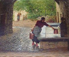 Luigi Monteverde, La fontana di Davesco, 1902