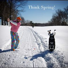 """""""Love this pic from Hopkinton Country Club's Director of Fun - THINK SPRING! cc: @HopkintonCC @LoudMouthGolf #DOF #BostonSnow #WinterGolf"""""""