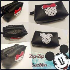 Trousse Zip-Zip cousue par Coupe-coupe, je fil  - Tissu(s) utilisé(s) : Simili noir, simili rouge Swarovski et coton blanc a pois  - Patron Sacôtin : Trousse Zip-Zip     (Trousse double zip compartimentée)