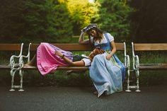 WE ARE FLOWERGIRLS | Auf der Alm | Dirndl Collection 2016 | Photographer: Melina Weger Instagram: @melourra | Models: Clara König and Cecilia Leitinger | Make Up and Hair: MUD STUDIO VIENNA Dresses: Gössl Location: Türkenschanzpark, Vienna | S❤