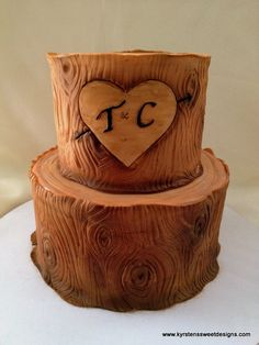 Rustic Tree Trunk Cake | Kyrsten's Sweet Designs - Specialty Cakes and Cookie Favors