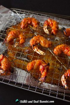 BBQ Bacon Wrapped Shrimp from dishesanddustbunnies.com Seafood Recipes, Appetizer Recipes, Appetizers, Shrimp Wraps, Barbecue Shrimp, Bacon Wrapped Shrimp, Bbq Bacon, Good Food, Chicken