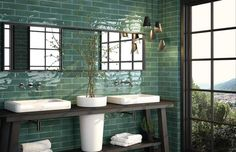 Illumina Emerald Wall Tiles 7.5x30cm Tiles from £0.67 - Tons of Tiles