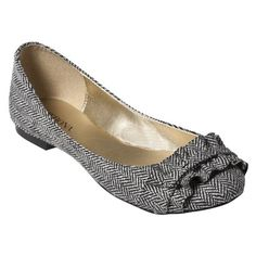 Meaghan Tweed Ruffled Flat by Merona $24.99 I need business flatts!!